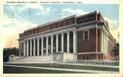 Harvard University - Cambridge, Massachusetts MA Postcard