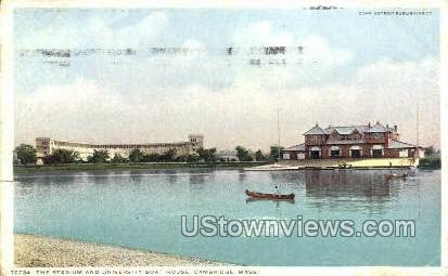 University Boat House - Cambridge, Massachusetts MA Postcard