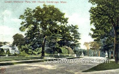 Lowell Memorial Park - Cambridge, Massachusetts MA Postcard
