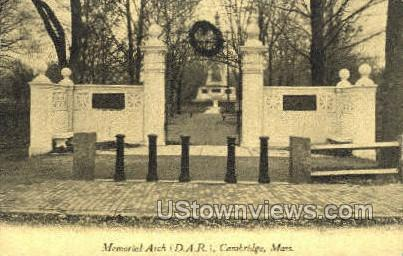 Memorial Arch - Cambridge, Massachusetts MA Postcard