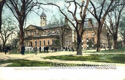 Harvard Hall, Harvard College - Cambridge, Massachusetts MA Postcard