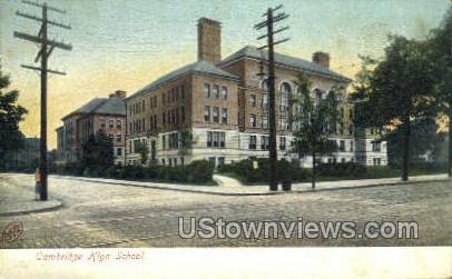 Cambridge High School - Massachusetts MA Postcard