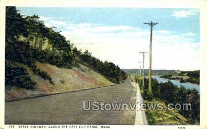 State Highway - Cape Cod, Massachusetts MA Postcard