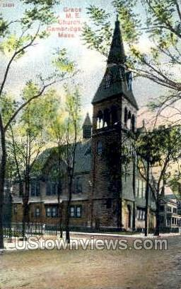 Grace M.E. Church - Cambridge, Massachusetts MA Postcard