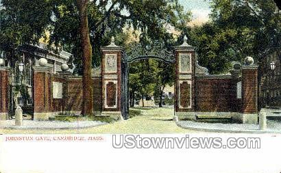 Johnston Gate - Cambridge, Massachusetts MA Postcard