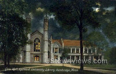 Gore Hall, Harvard University - Cambridge, Massachusetts MA Postcard