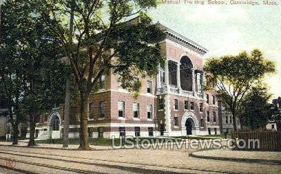 Manual Training School - Cambridge, Massachusetts MA Postcard