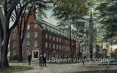 Mass Hall, Harvard College - Cambridge, Massachusetts MA Postcard