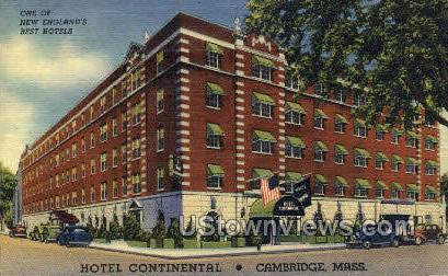 Hotel Continental - Cambridge, Massachusetts MA Postcard