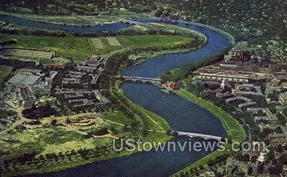 Charles River & Harvard University - Cambridge, Massachusetts MA Postcard