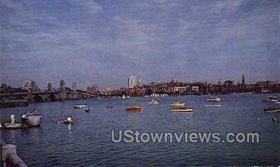 Charles River Basin - Cambridge, Massachusetts MA Postcard