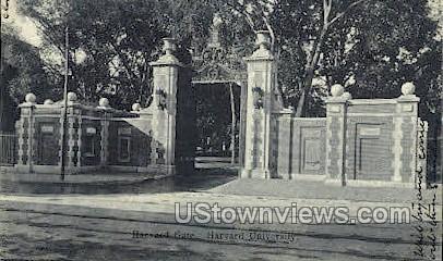 Harvard Gate, Harvard University - Cambridge, Massachusetts MA Postcard