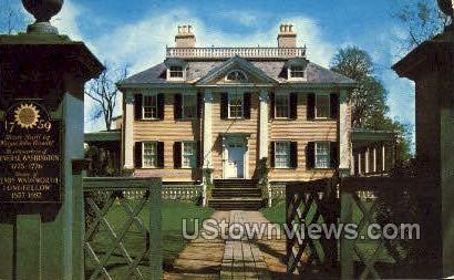 Longfellow's Home - Cambridge, Massachusetts MA Postcard