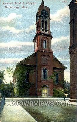 Harvard ST. M.E. Church - Cambridge, Massachusetts MA Postcard