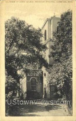 The Tower of Christ Church - Cambridge, Massachusetts MA Postcard