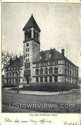 City Hall - Cambridge, Massachusetts MA Postcard