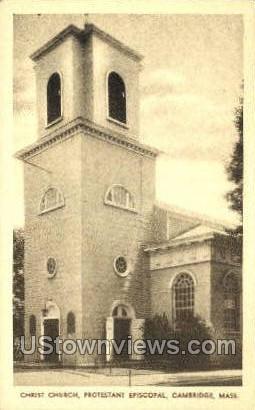 Christ Church - Cambridge, Massachusetts MA Postcard