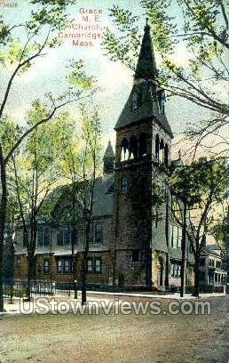Grace M.E. Church - Cambridge, Massachusetts MA Postcard