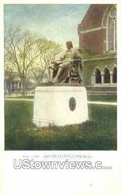 John Harvard Statue - Cambridge, Massachusetts MA Postcard