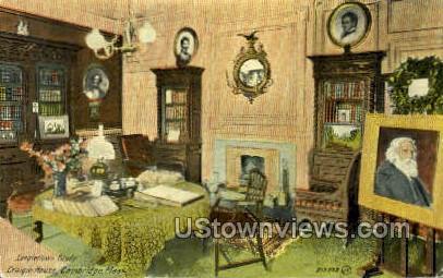 Study, Longfellow's Home - Cambridge, Massachusetts MA Postcard