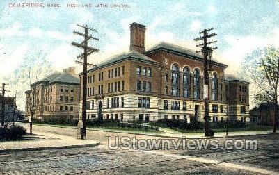 High & Latin Schools - Cambridge, Massachusetts MA Postcard