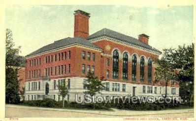 Cambridge High School - Massachusetts MA Postcard