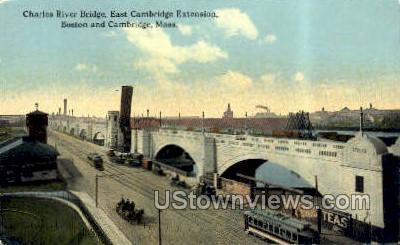 Charles River Bridge - Cambridge, Massachusetts MA Postcard