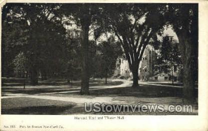 Harvard Yard & Thayer Hall - Cambridge, Massachusetts MA Postcard