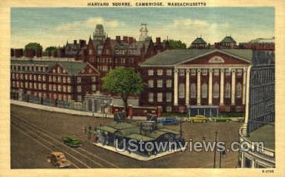 Harvard Square - Cambridge, Massachusetts MA Postcard