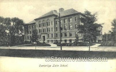 Cambridge Latin School - Massachusetts MA Postcard