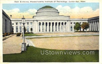 Main Entrance, M.I.T. - Cambridge, Massachusetts MA Postcard