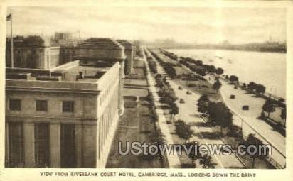 Riverbank Court Hotel - Cambridge, Massachusetts MA Postcard