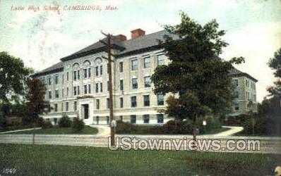 Latin School - Cambridge, Massachusetts MA Postcard