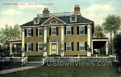 Home of Longfellow - Cambridge, Massachusetts MA Postcard