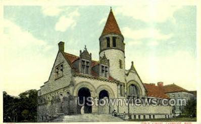 Public Library - Cambridge, Massachusetts MA Postcard