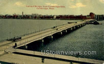 Harvard Bridge - Cambridge, Massachusetts MA Postcard