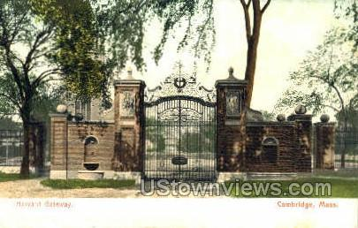 Harvard Gateway - Cambridge, Massachusetts MA Postcard