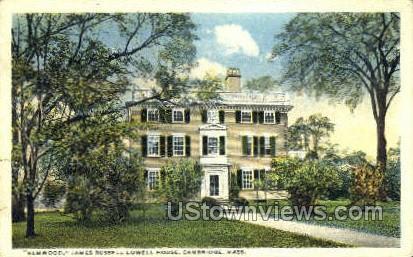 James Russell Lowell House - Cambridge, Massachusetts MA Postcard