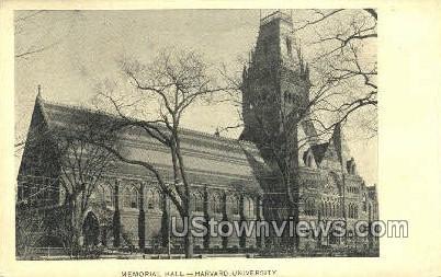 Memorial Hall, Harvard University - Cambridge, Massachusetts MA Postcard