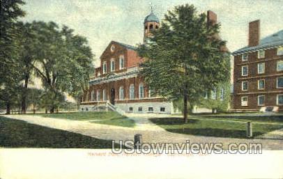 Harvard Hall, Harvard College - Cambridge, Massachusetts MA Postcard