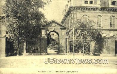 McKean Gate, Harvard University - Cambridge, Massachusetts MA Postcard