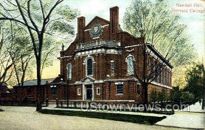 Randall Hall - Cambridge, Massachusetts MA Postcard