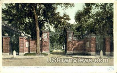 Johnston Gate, Harvard University - Cambridge, Massachusetts MA Postcard