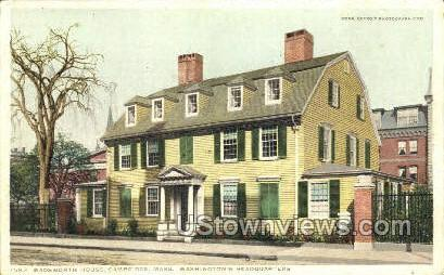 Wadsworth House - Cambridge, Massachusetts MA Postcard