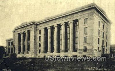 Langdell Hall, Harvard University - Cambridge, Massachusetts MA Postcard