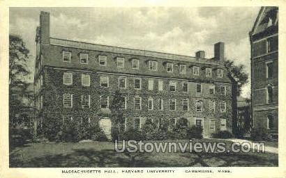 Mass. Hall, Harvard University - Cambridge, Massachusetts MA Postcard