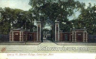 Gate of 77, Harvard College - Cambridge, Massachusetts MA Postcard