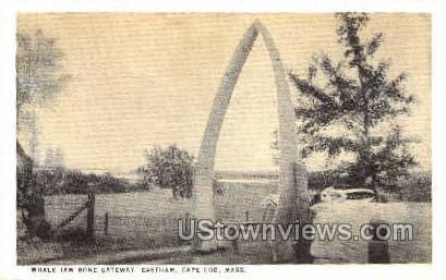 Whale Jaw Bone Gateway - Cape Cod, Massachusetts MA Postcard
