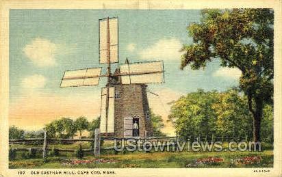 Old Eastham Mill - Cape Cod, Massachusetts MA Postcard