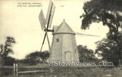 Old Windmill, Eastham - Cape Cod, Massachusetts MA Postcard